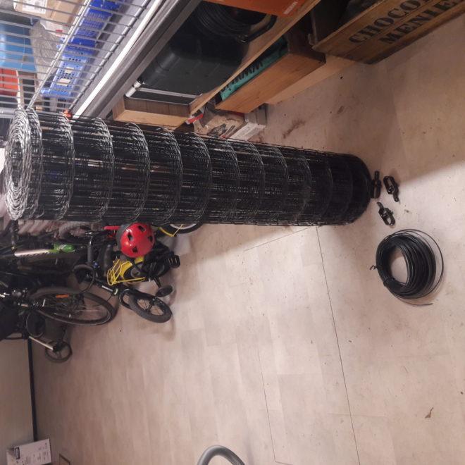 10,50m Grillage gris anthracite 1m20, cable et 3 tendeurs
