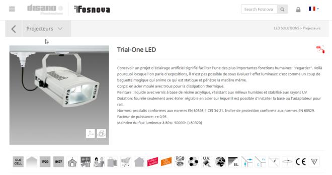 6 x projecteur haute puissance Disano LED 39W