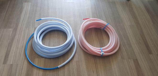 rouleaux per 12 rouge et bleu 10 m