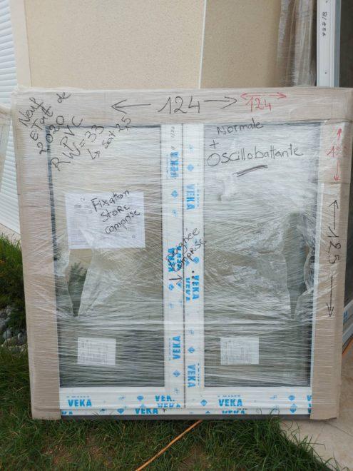 Fenêtre VEKA oscillobattante renforcé 124 x 125