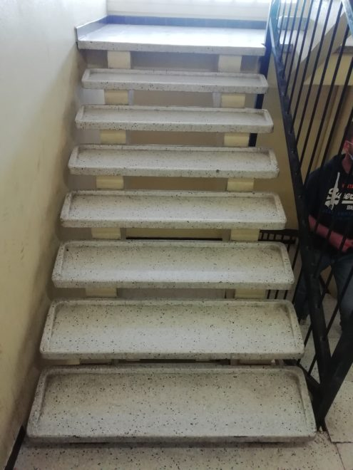 Marches d'escalier en Terrazzo poli