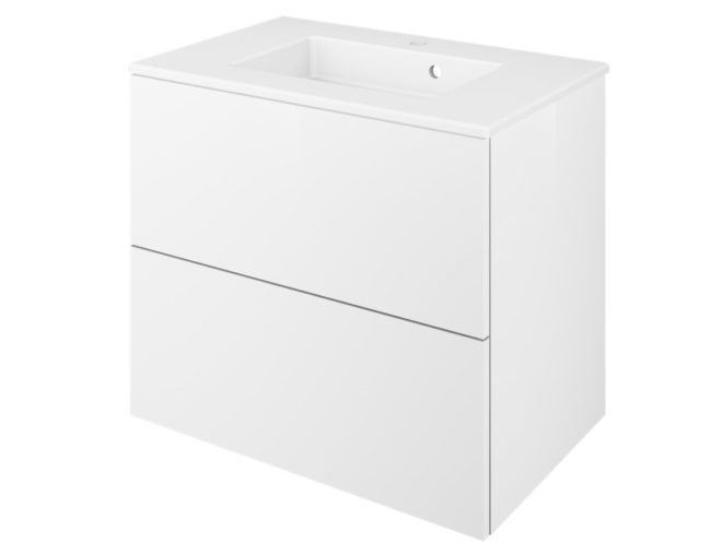 Meuble de salle de bains l.75 x H.64 x P.48 cm, blanc, Neo line